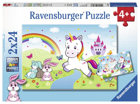 2x24pce Fairytale Unicorn