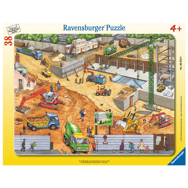 Tray Puzzle 38Pce  - On the Building Site