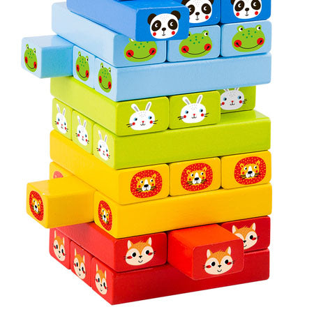 Stacking logs Game - Wooden animals