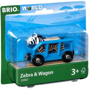 Zebra and Wagon