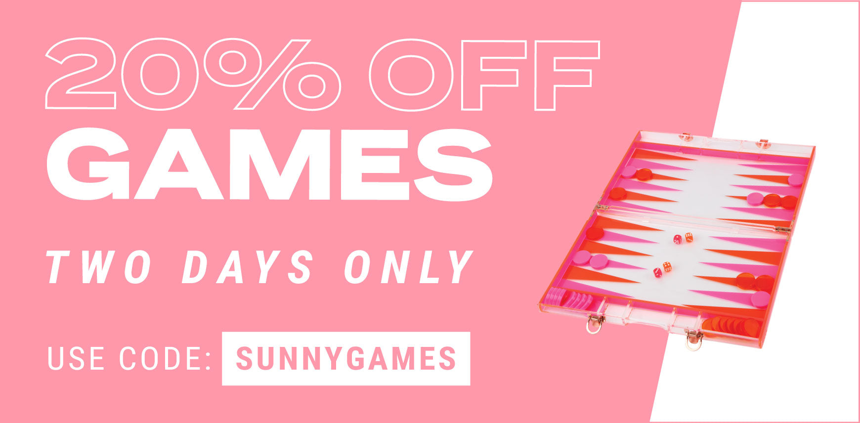 20 % Off Games Two Days Only