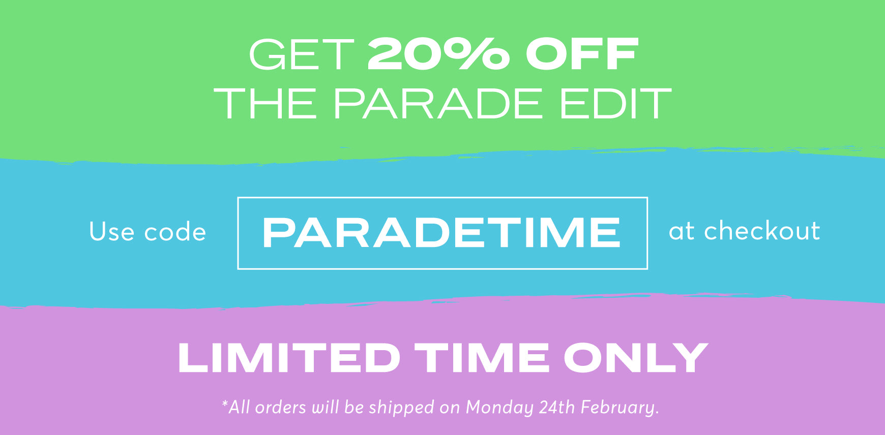 Get 20% OFF the Parade Edit. Use code PARADETIME at checkout. Limited time only.