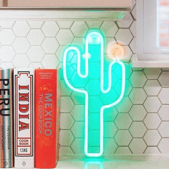 Neon LED Wall Large | Cactus
