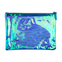 Sunnylife | See Thru Pouch | Electric Bloom Blue