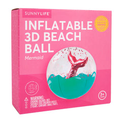 Sunnylife | 3D Inflatable Beach Ball | Mermaid
