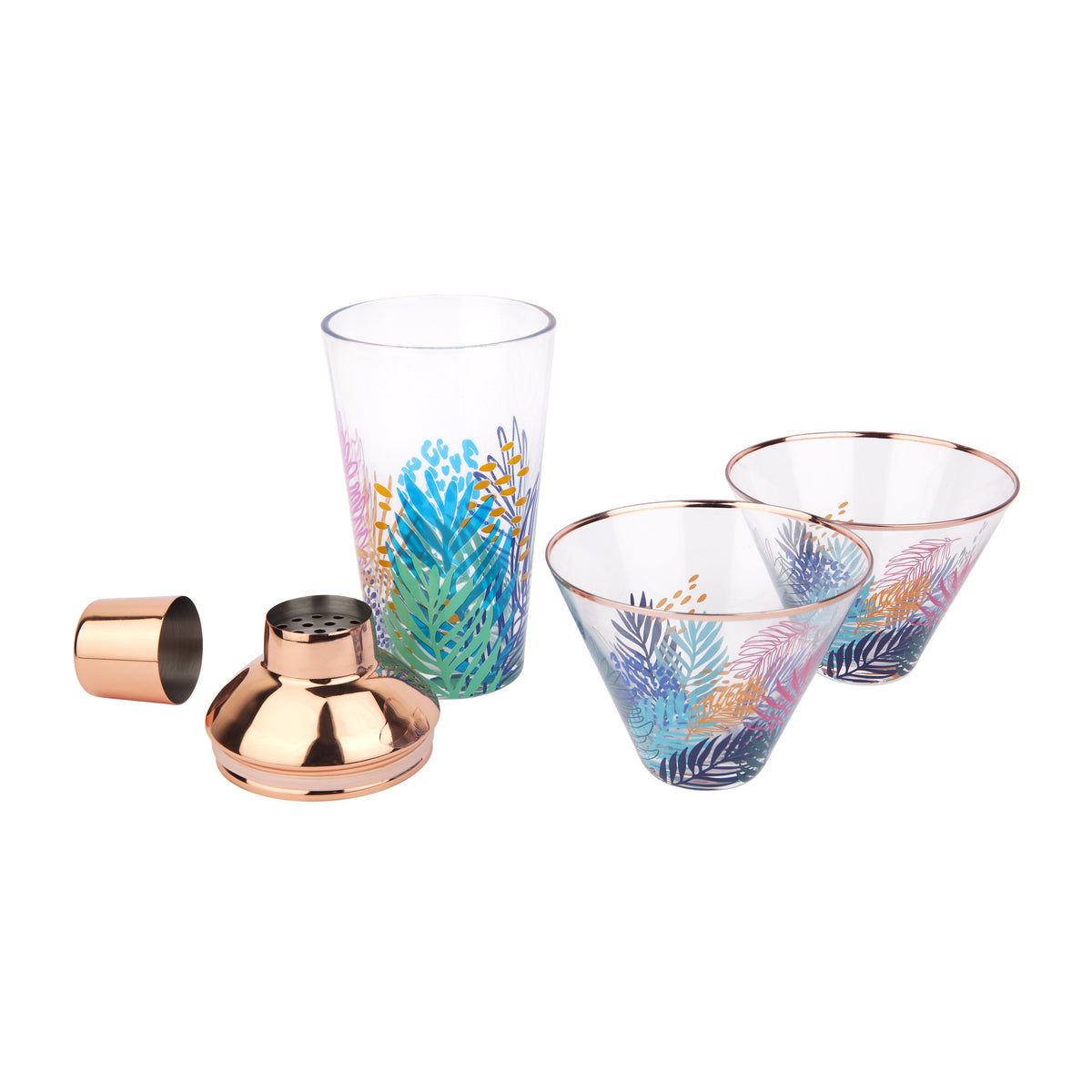 Sunnylife | Luxe Shaker & Glass Set | Electric Bloom