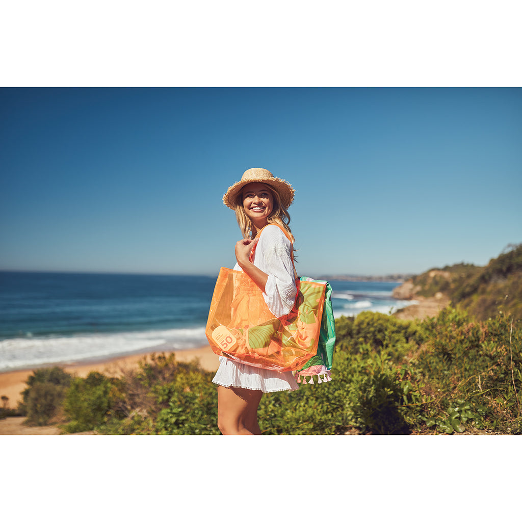 Sunnylife Market Bag | Neon Orange