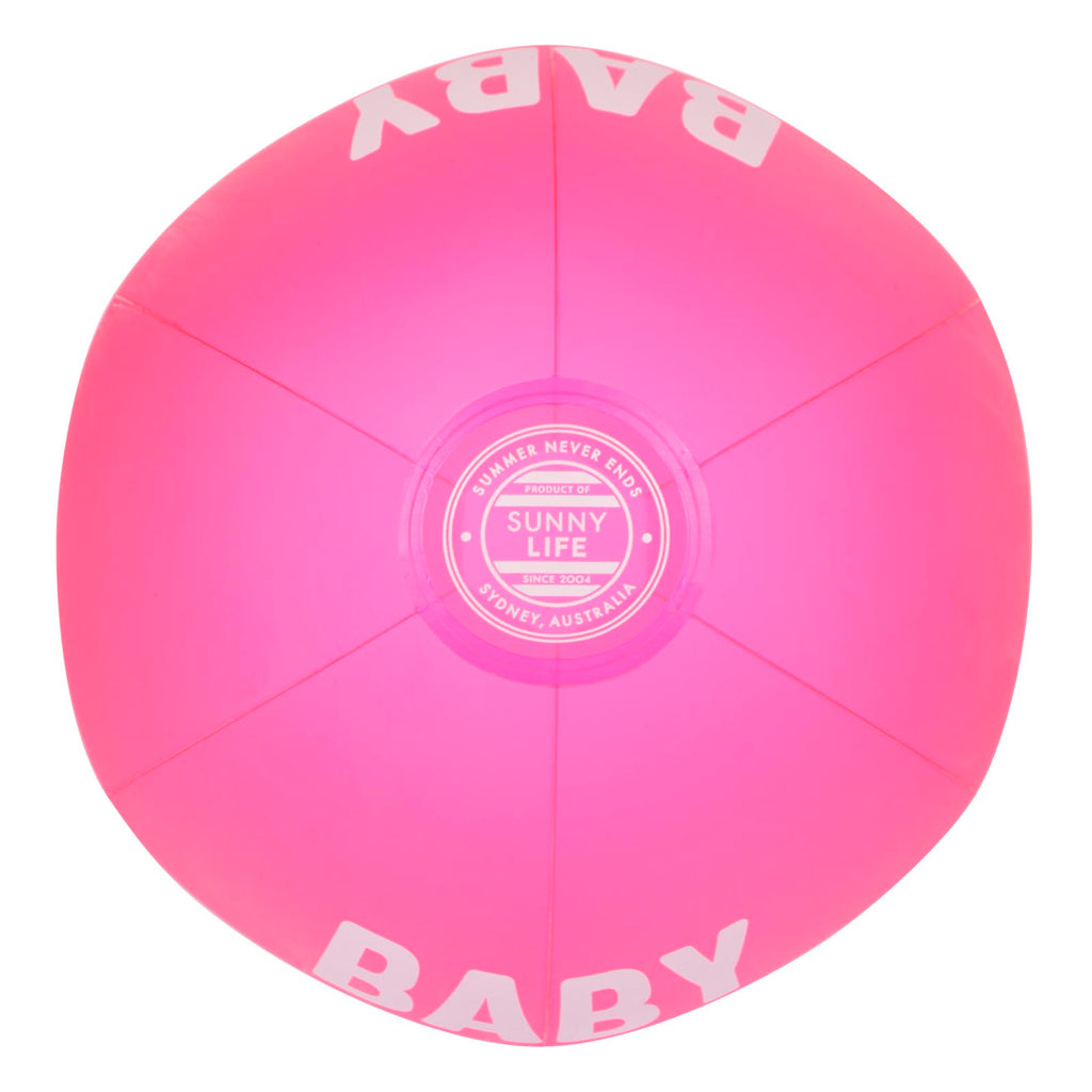 Sunnylife Inflatable Beach Ball | Neon Pink