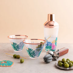 Luxe Shaker & Glass Set | Electric Bloom