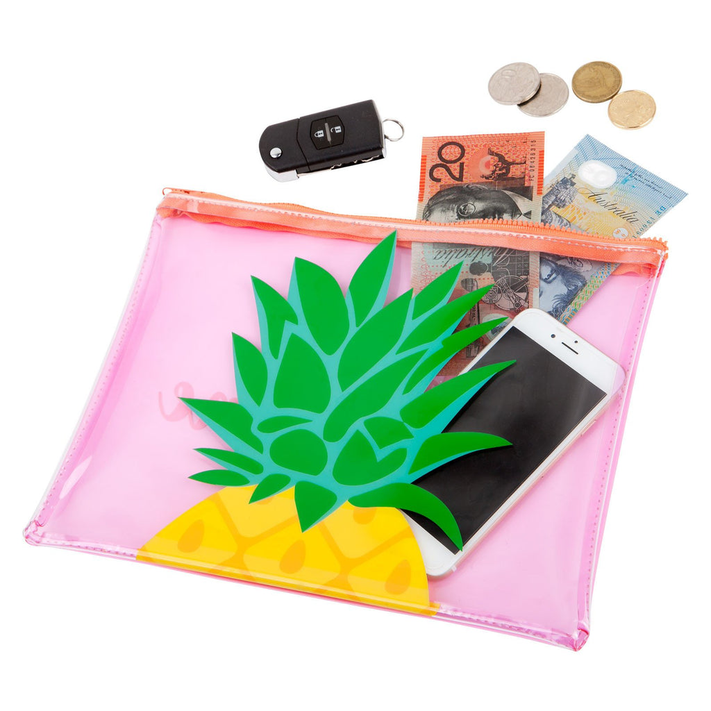 See Thru Beach Pouch Pineapple