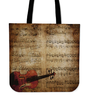 Sheet Music & Violion Tote Bag