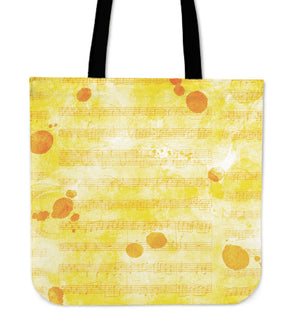 Sheet Music Tote Bag Yellow