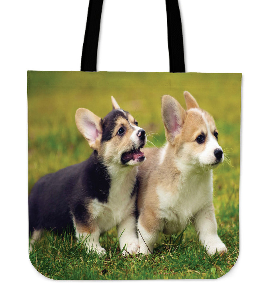 Corgi Dogs Canvas Tote Bag