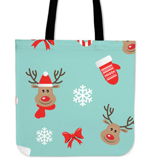 Christmas Deers Tote Bag