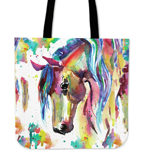 Watercolor Horse Tote Bag