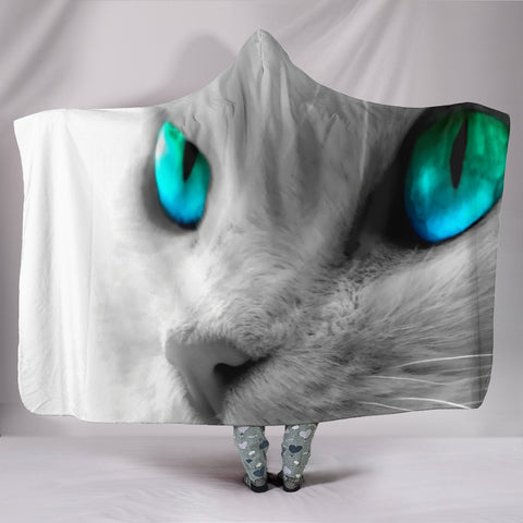 Image of Cats Eyes Hooded Blanket
