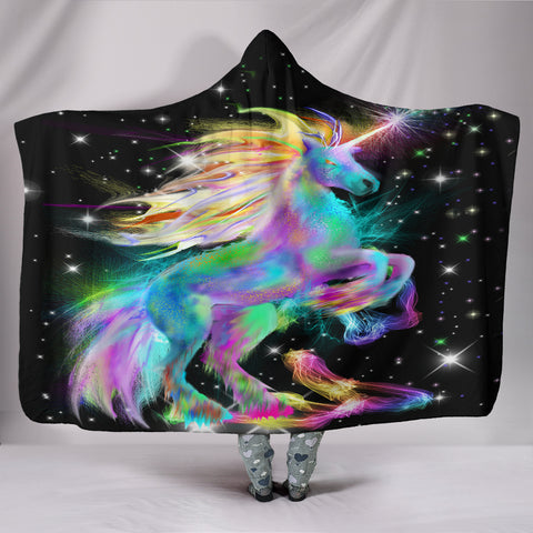 Image of Unicorn Hooded Blanket