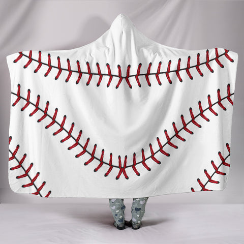 Image of Baseball Hooded Blanket 2.0