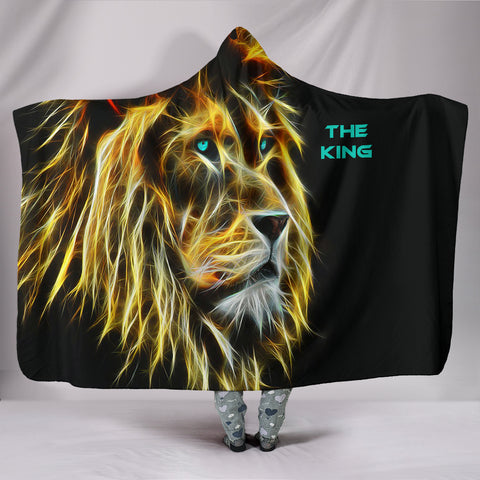 Image of Hooded Blanket - Lion