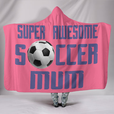 Image of Soccer Mum Hooded Blanket - Pink