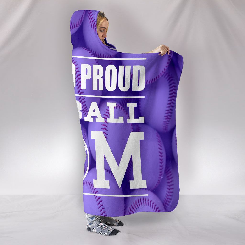 LOUD AND PROUD BASEBALL MOM HOODED BLANKET