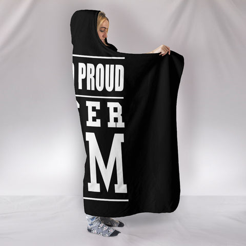 Image of LOUD AND PROUD SOCCER MOM HOODED BLANKET