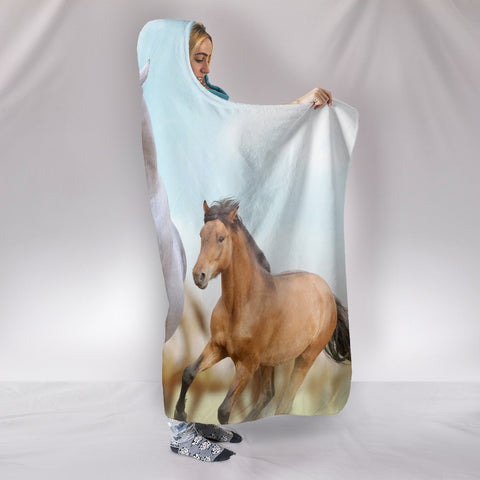 Image of Desert Horse Hooded Blanket