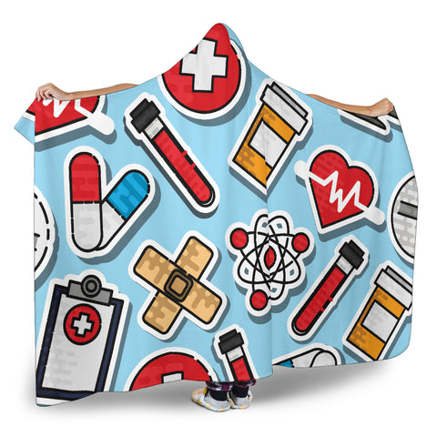 Nurse Hooded Blanket