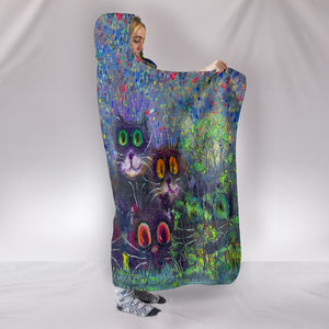 Cats Hooded Blanket