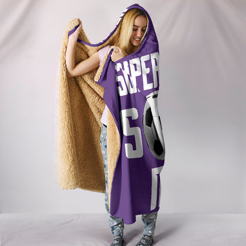 Image of Soccer Mum Hooded Blanket - Purple
