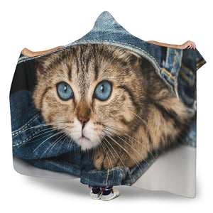 Kitten Hooded Blanket