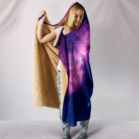 Image of Cosmic Unicorn Hooded Blanket