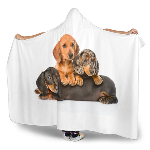 Dachshund Hooded Blanket