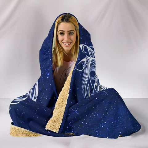 Night Horse II Hooded Blanket