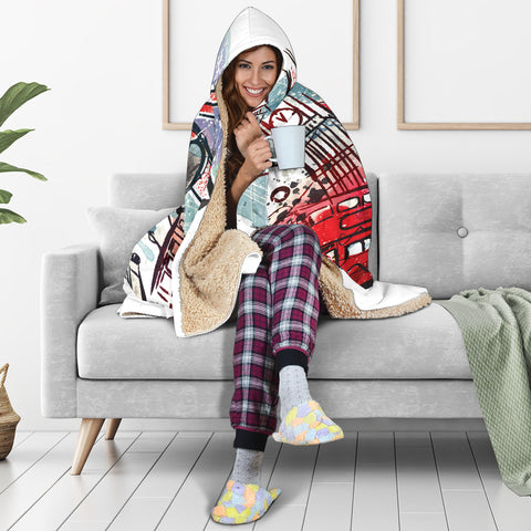 Image of London Hooded Blanket