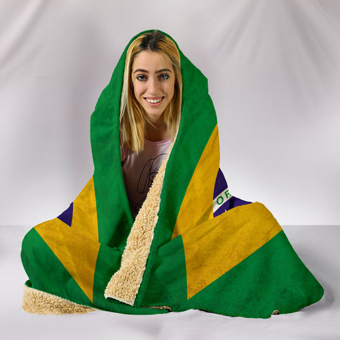 Image of Custom Hoodie Blanket - Brazil Flag