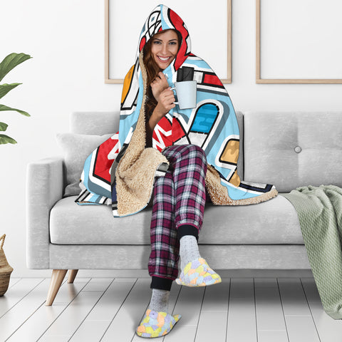 Image of Nurse Hooded Blanket
