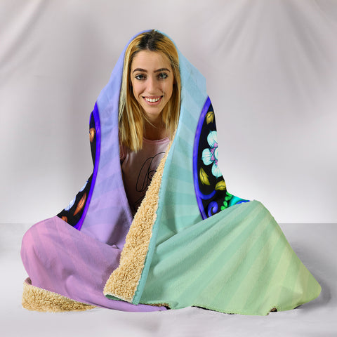 Image of Sugar Skull Lover Hooded Blanket for Lovers of Sugar Skulls