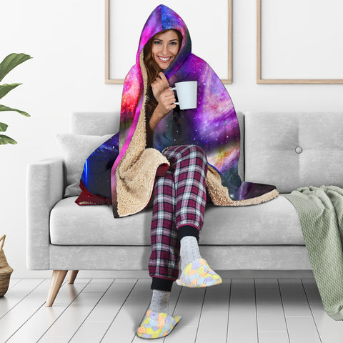 Image of Cosmos Hooded Blanket