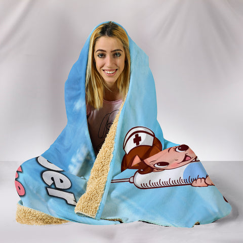 Image of Funny Nurse Hooded Blanket