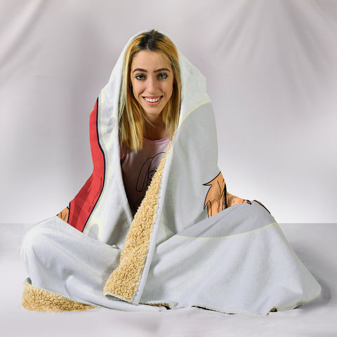 Image of Have A Golden Christmas Hooded Blanket for Golden Retriever Dog Lovers