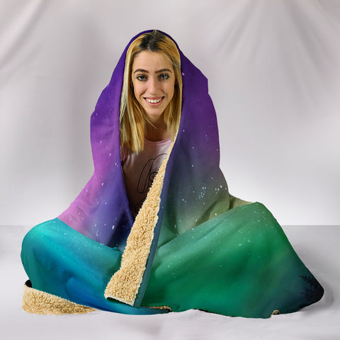 Image of Northern Lights Hooded Blanket