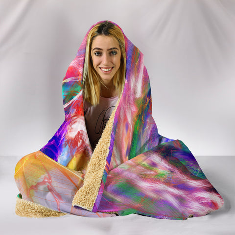 Image of Eva Unicorn Hooded Blanket