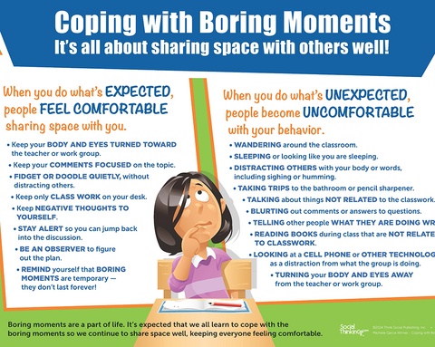 Coping With Boring Moments - Poster - Social Thinking Singapore