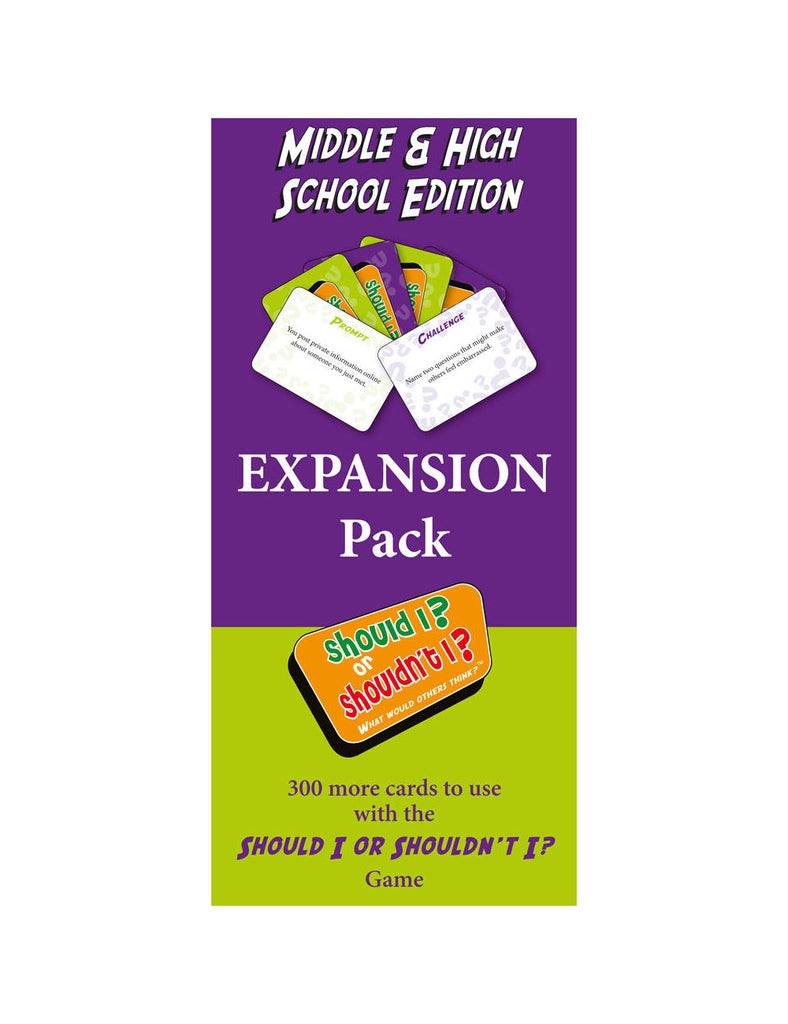 Should I? or Shouldn't I? Middle & High School Expansion Pack - Social Thinking Singapore