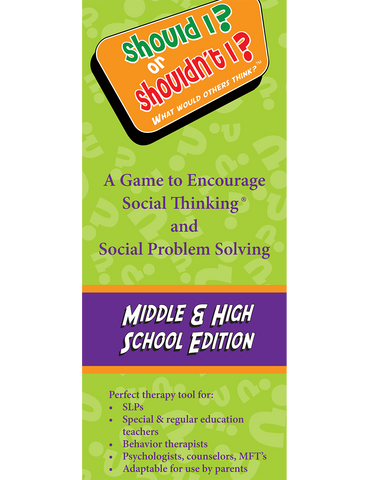 Should I? or Shouldn't I? What Would Others Think? Middle & High School Edition - Social Thinking Singapore