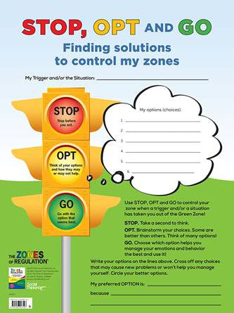 Zones STOP, OPT and GO (dry erase) – Poster - Social Thinking Singapore