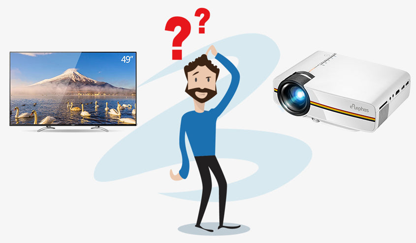 TV vs. Home Projector, which one will you choose?