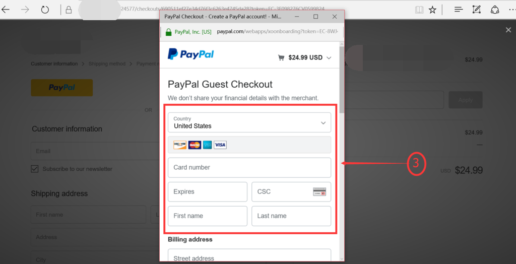 Pay Using Paypal Step 3