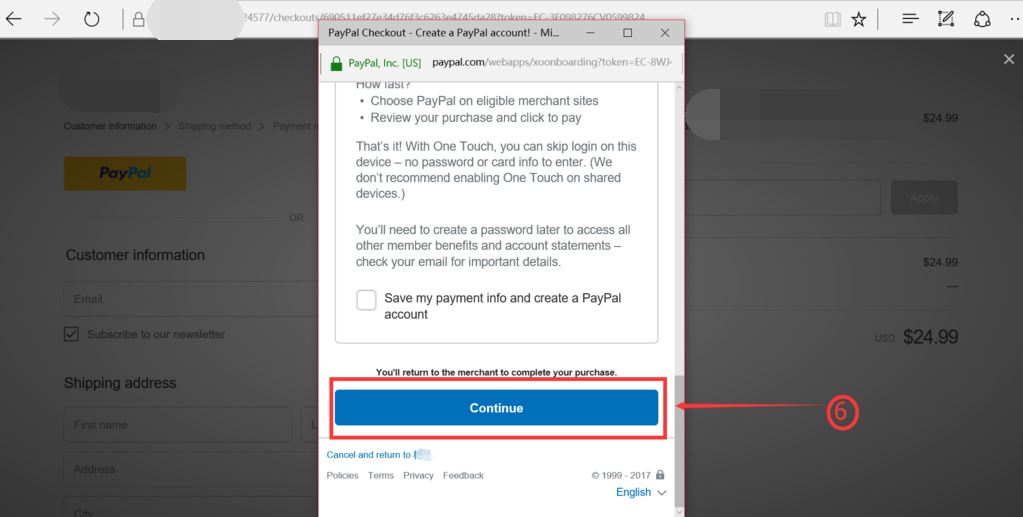 Pay Using Paypal Step 5
